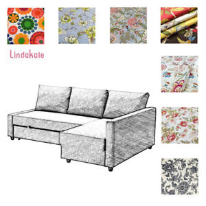 Awe Inspiring Details About Custom Made Cover Fits Ikea Friheten Sofa Bed With Chaise Patterned Fabrics Interior Design Ideas Lukepblogthenellocom