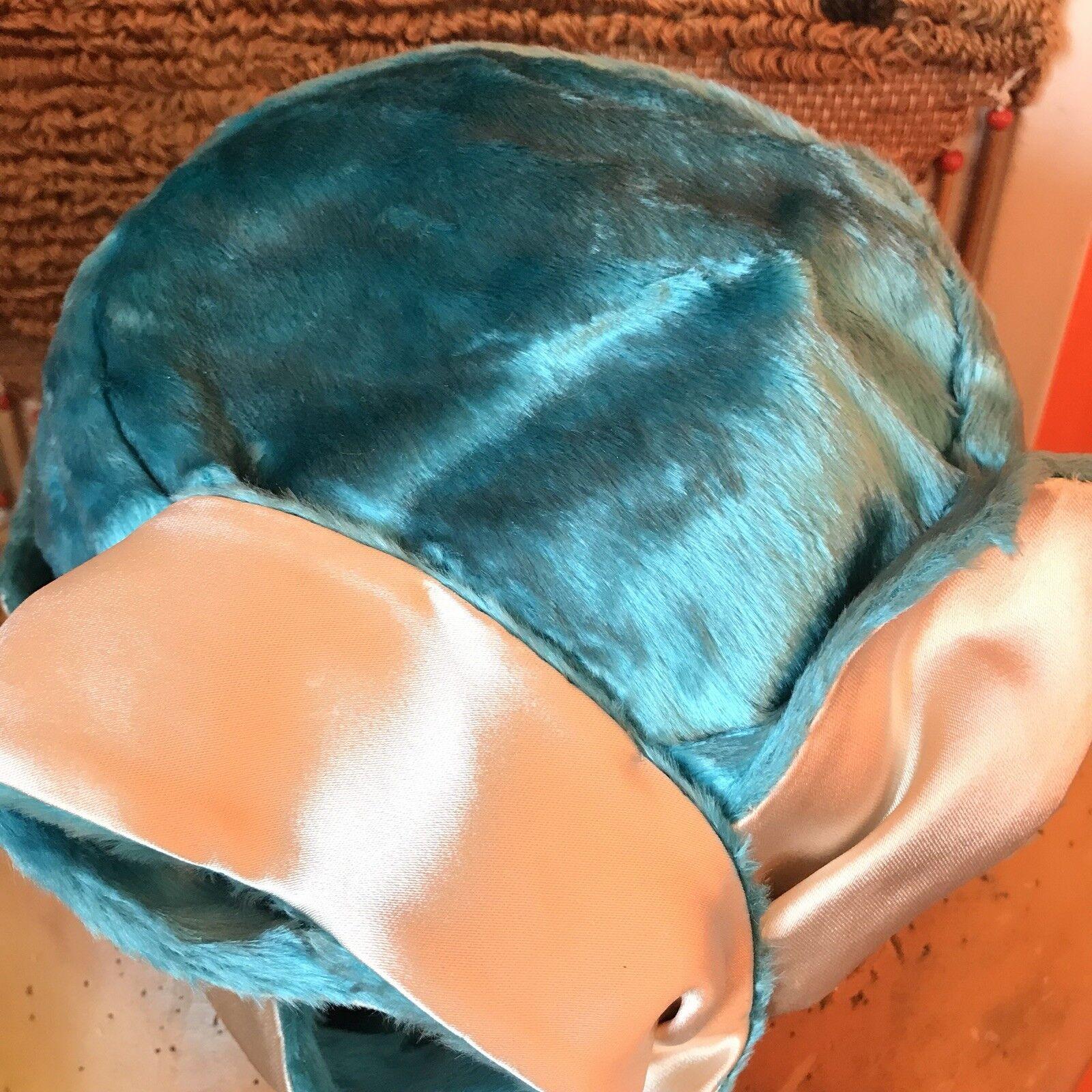 1950s Blue Velvet Hat- Structured Hat- 50s Hat- 5… - image 3