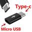 USB3-1-Type-C-Male-Micro-USB-Female-USB-C-Adapter-Konverter-fuer-iPhone-Samsung Indexbild 1
