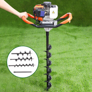 Details about 52cc Petrol Power Fence Post Hole Borer Auto Digger with 3  Earth Auger Drill Bit
