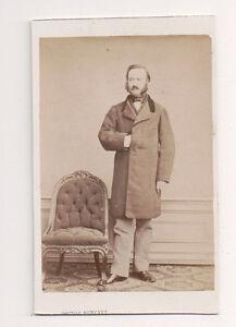Vintage-CDV-Distinguished-French-Gent-Top-Coat-Burkel-Photo