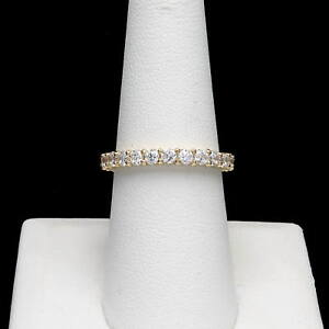 2-00CT-BRILLIANT-CREATED-DIAMOND-ETERNITY-RING-SOLID-14K-YELLOW-GOLD-BAND-SIZE-9