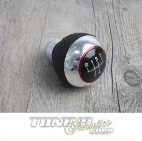 Premium Schaltknauf Knauf Edition Leder Chrom Alu 5-Gang für viele Fahrzeuge