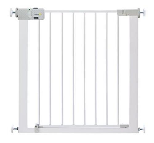White Baby Safety Stair Door Toddler Metal Gate Children Pet Barrier Child Fence