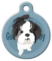Good Boy Shih Tzu - Custom Personalized Pet Id Tag For Dog And Cat Collars