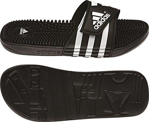 separation shoes 8543d 321cf Tg.9 (43) Scarpe adidas Adissage M Nero - Bianco Uomo  eBay
