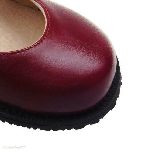 Mary Janes Womens Cute Ankle Strap Flat Lolita Court Vintage Round Toe Shoes
