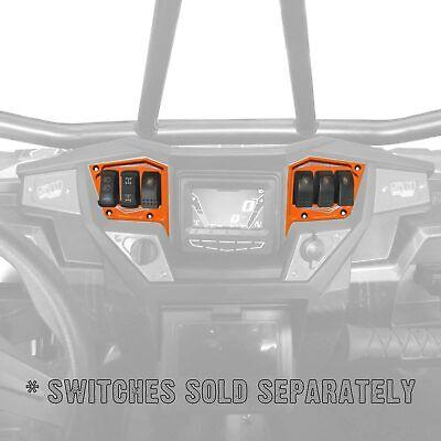 CNC Billet 6061 2pc Rocker Switch Dash Panel Polaris RZR S 900 Orange Madness