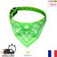 Collier-Cuir-PU-avec-Bandana-Vert-pour-Chien-ou-Chat-XS-S-M-L-XL-Neuf-FR miniature 1