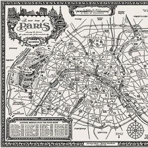 The Paris Map - Fine Art Prints by Manuscript Maps