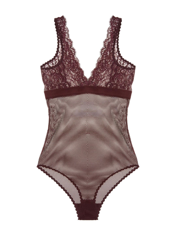 Stella McCartney Sophie Surprising Bodysuit Farbe Plum Größe Small S92-287 - 28