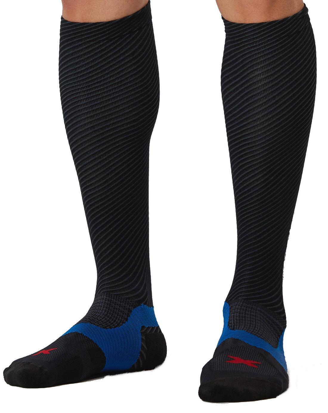 2XU Elite Lite X-Lock Compression Socks Herren Schwarz Schwarz MA4634e