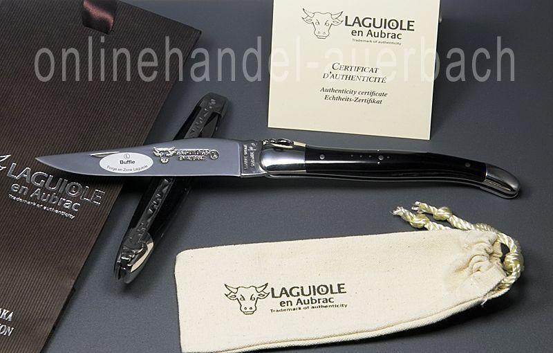 Laguiole en Aubrac Aubrac Aubrac  L0212BUI/FSI1  Büffelhorn 12 cm  Taschenmesser  Messer 696b68