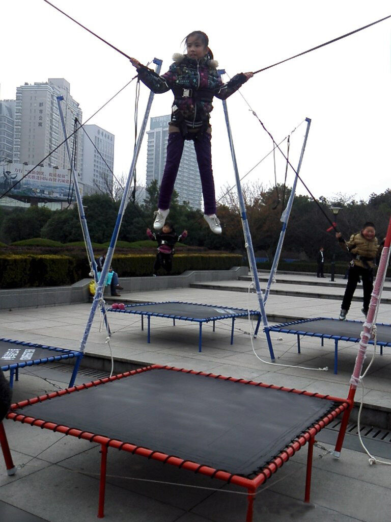 4PCs New Adult Bungee Bungy Trampoline Amusement Ride Free Shipped by Sea