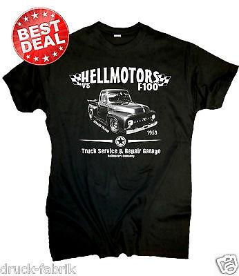 Ford F100 Truck T-Shirt Hot Rod US Car V8 Pickup Oldtimer Oldschool Custom Retro