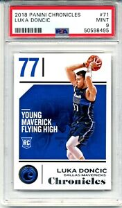 **Luka Doncic** 2018 Panini Chronicles #71 RC Rookie PSA 9 Mint!!