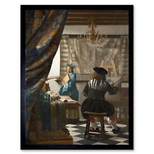 Jan-Vermeer-The-Art-Of-Painting-Art-Print-Framed-12x16