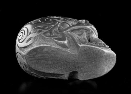 Design Clinic Deko Totenkopf Figur Celtic Skull Gunmetal mini