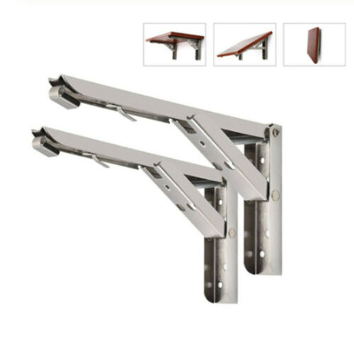 Folding Shelf Brackets Scaffold Board Rustic Industrial Heavy Duty Metal Steel