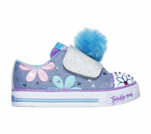 7 6 Toddler Girls~Sizes NIB Skechers Light Up Twinkle Toes Shoes Daisy Days