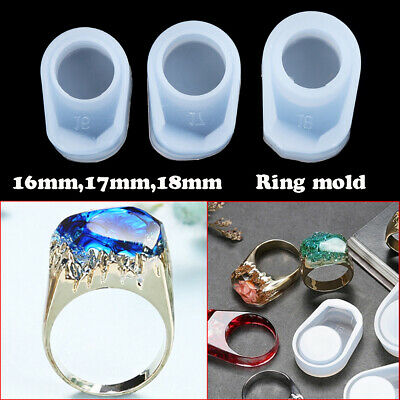 DIY Ring Crystal Mold Silicone Mold Ring Silicone Mold Jewelry Making 16mm