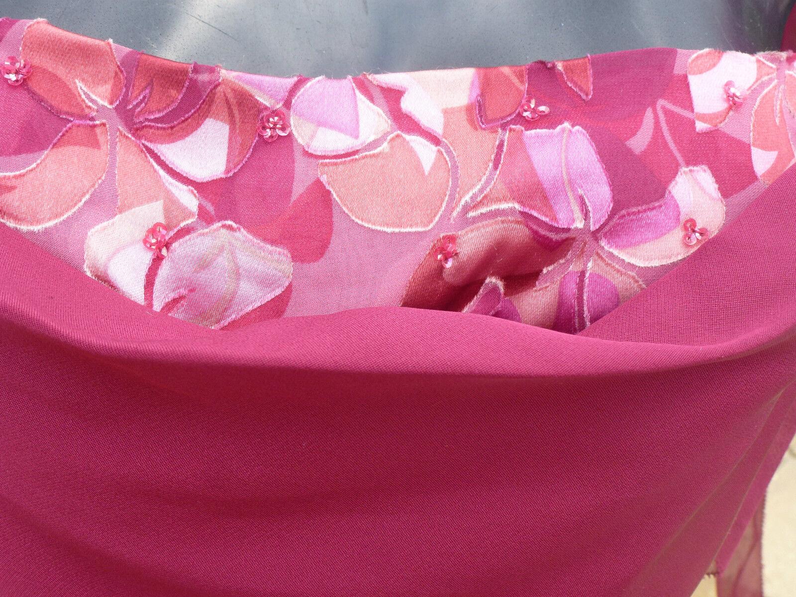 Monsoon AMANDINE Berry Con Perline Abito in in in seta 12 Matrimonio Corse Ballo Crociera NUOVO CON ETICHETTA 652b48