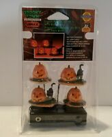 Lemax Spooky Town Lighted Pumpkin With Black Cats Set Of 4 2000 Item 04470
