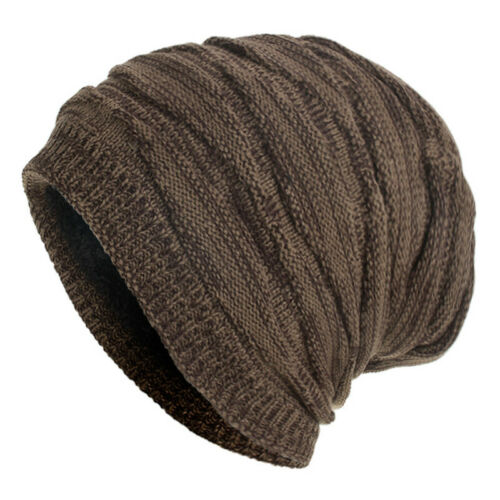 Mens Boys Womens Knitted Beanie Hats Winter Warm Ski Baggy Slouch Outdoor Caps