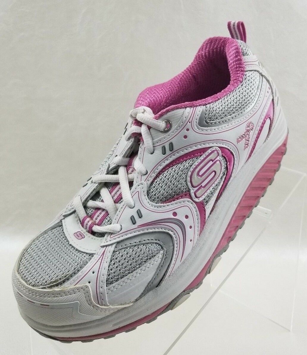 Skechers Shape Ups 12309 Womens White Pink Fitness Sneakers Size 7