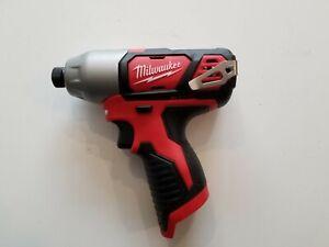 MILWAUKEE-2462-20-M12-12V-12-Volt-Li-Ion-1-4-034-Cordless-Hex-Impact-Driver-Tool