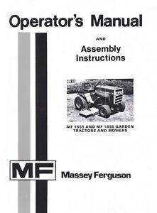 massey ferguson mf 1655 1855 mf1655 mf1855 garden tractor mower rh ebay com Massey Ferguson 1450 Garden Tractor Massey Ferguson 1450 Garden Tractor