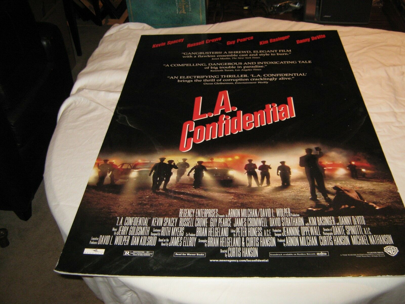 L.A. Confidential , Movie Poster , Heavy Cardboard , 40