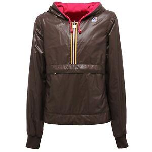giacca donna inbottita k way double marrone prezzo