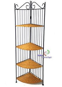 Metallo scaffale angolare mobili da giardino scaffale con 4 ripiani rattan ebay - Ebay mobili da giardino ...