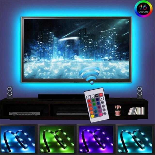 Skmoon Led Tv Back Lights Rgb Strip Usb Bias Lighting Backlight Kit For Online Ebay