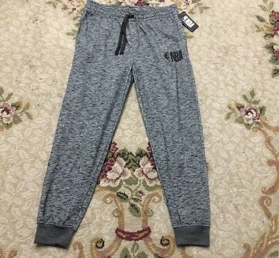 NBA MEN/'S JOGGERS PANTS SIZE M-XL WHITE// BLACK MESH NWT