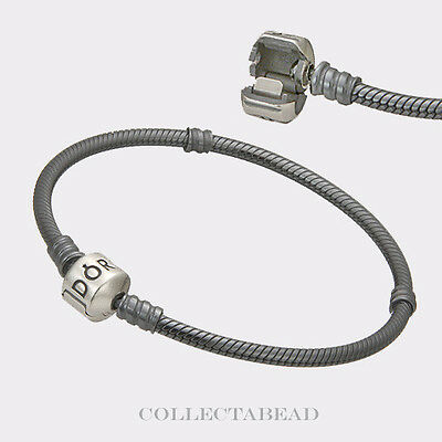 "Authentic Pandora Sterling Silver Oxidized Bracelet Lock 7.5"" 590702OX"