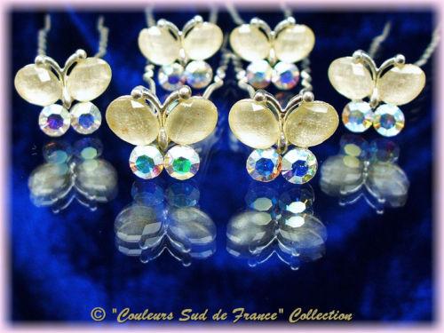 Bijou Mariage 6 Crochets Pics Épingles cheveux papillon P404