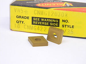 NEW-10PCS-VALENITE-CNMG-422-GRADE-VN5-CARBIDE-INSERTS