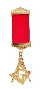 "Masonic Square /& Compasses With /""G/"" Gilt Breast Jewel"