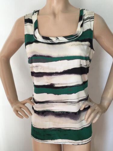 met Knit St John New damesshirt halszijdegroencrème ronde S 2eWDHIbYE9