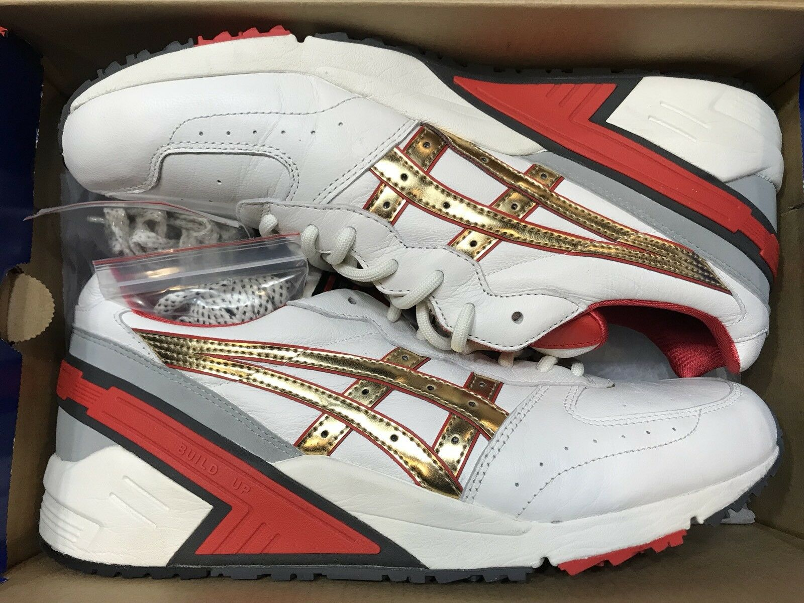 Asics Tiger Gel Sight World Challenger Off White Red gold H500L-0294 Sz 9
