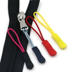 Zipper Pull Puller End Fit Rope Tag Fixer Zip Cord Tab Replacement Clip Buckle