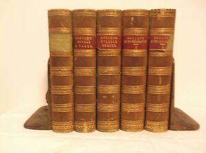 CR-Rare-1861-66-5-Volume-Fine-Binding-Goethe-Autobiography-Poems-Werther-Novel
