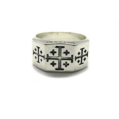 Echtes Ring Aus Sterling Silber Solide Punziert 925 Jerusalem Kreuz R001965 Produkte Werden Ohne EinschräNkungen Verkauft