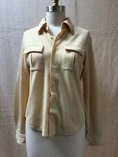 VTG COMME DES GARCONS Tricot Wool Button Up Beige Shirt Long Sleeve Top SZ S