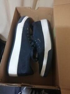 grey DKNY samson lace up sneaker size