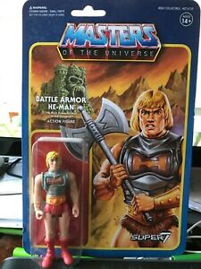 Master of the Universe Battle Armor He-man Reaction Figure