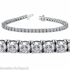 18Carat-White-Gold-Diamond-Tennis-Bracelet-4-Claw-5-00cts-7-25-Inches