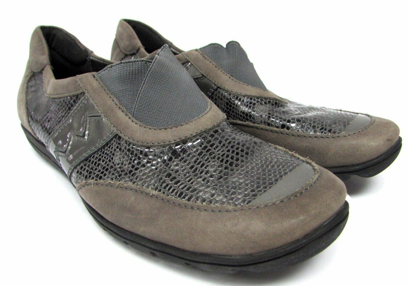 Sesto Meucci women's size 6 gray grey loafers comfort shoes flats hovercraft sol